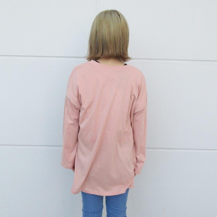 ロゴプリントロングTシャツ 7