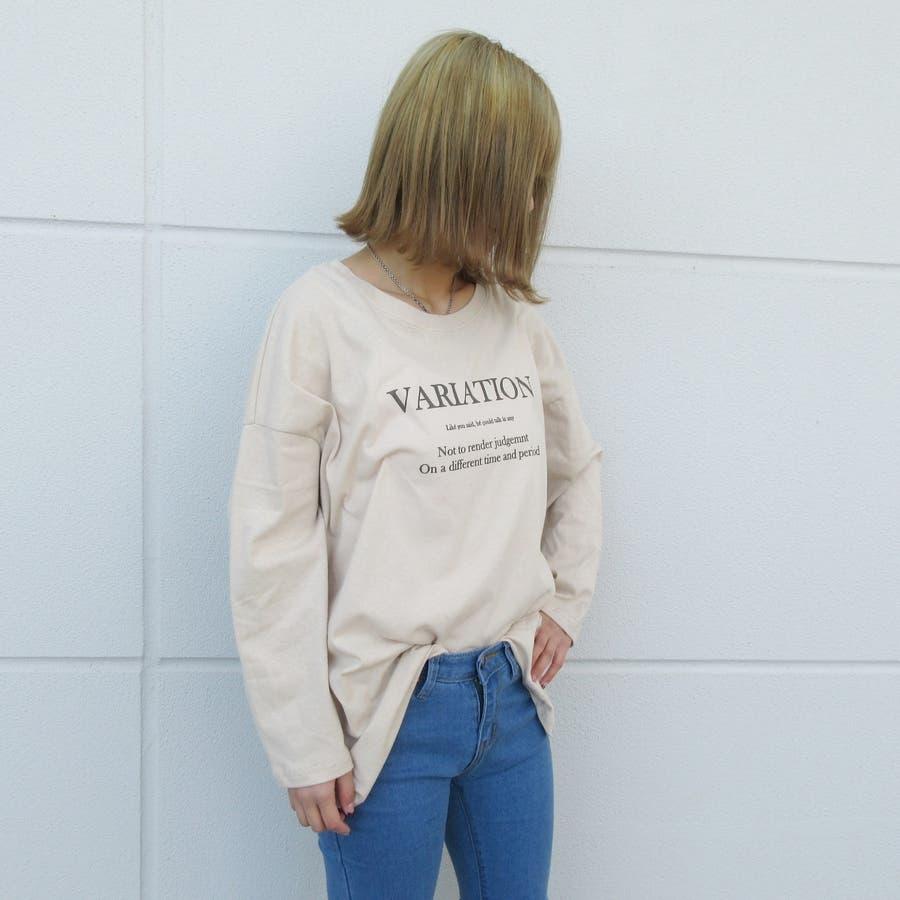 ロゴプリントロングTシャツ 8