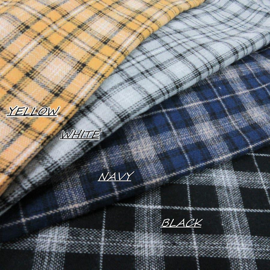 フード付チェックシャツ 10