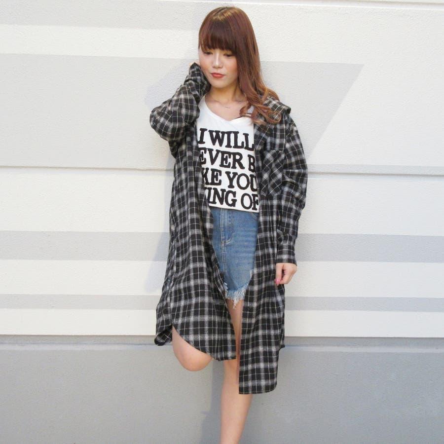 フード付チェックシャツ 22