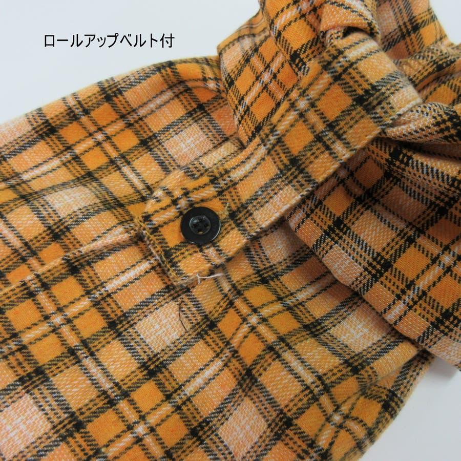 フード付チェックシャツ 9