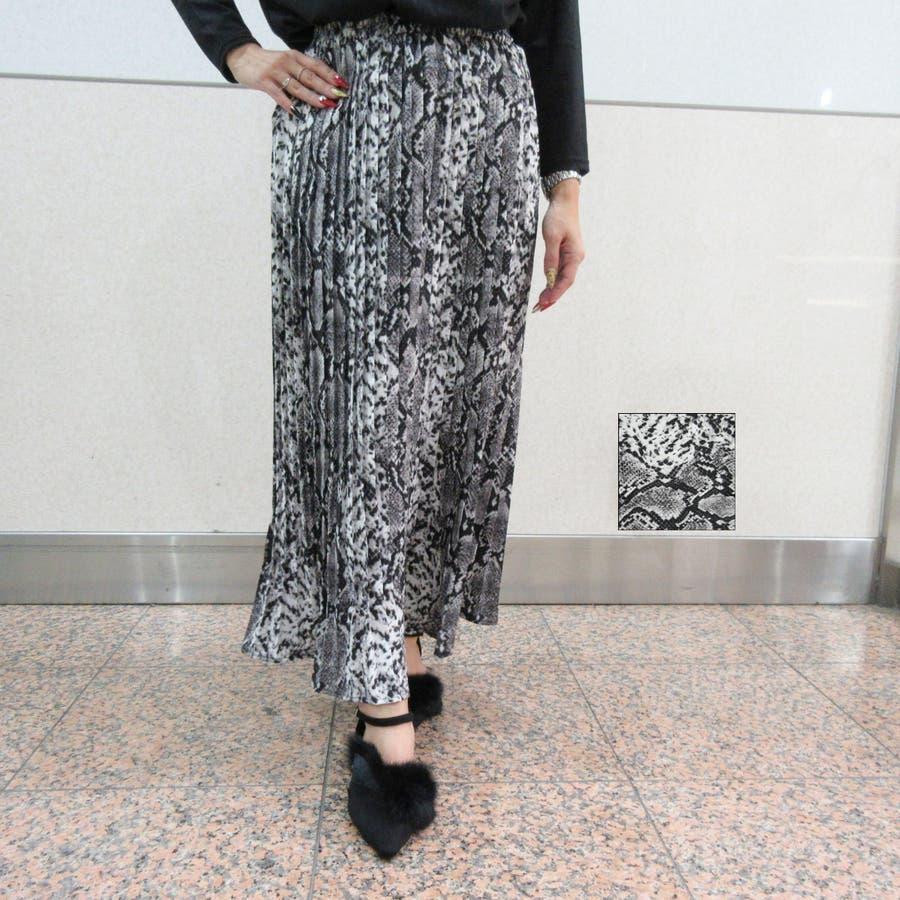 アニマル柄プリーツスカート 22