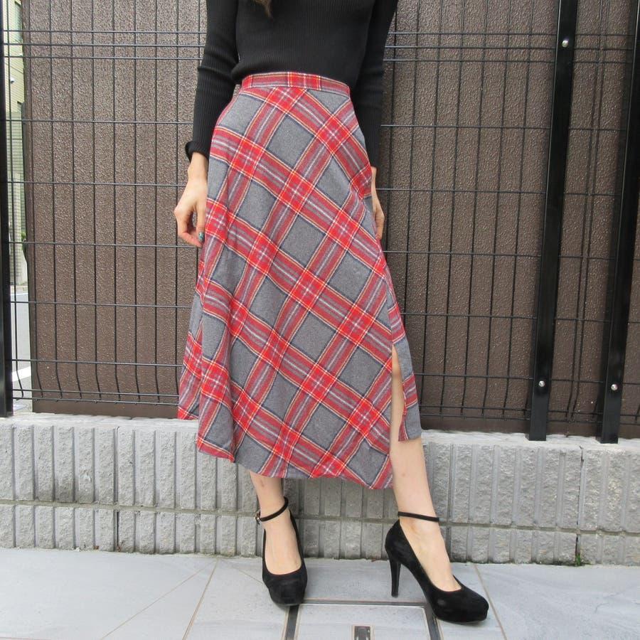 チェック柄スカート 94