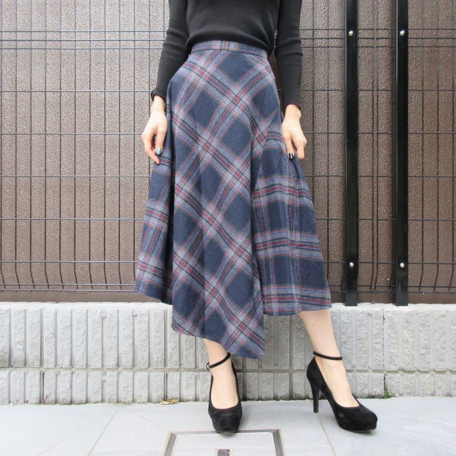 チェック柄スカート 64