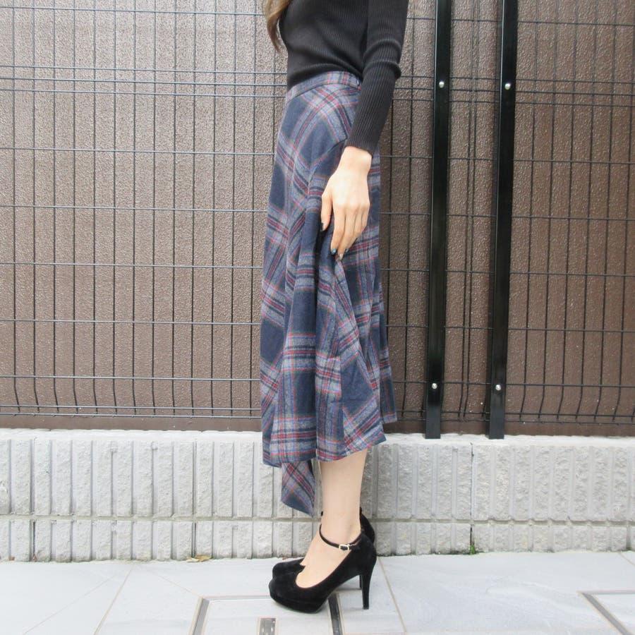 チェック柄スカート 3