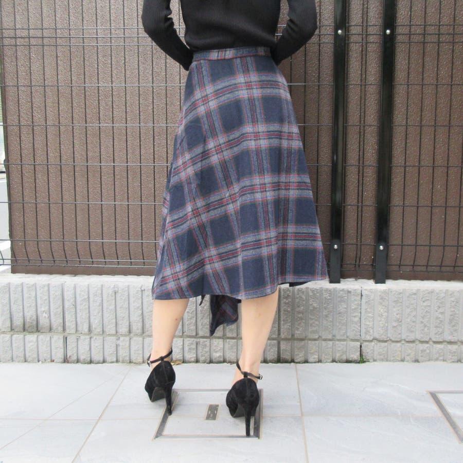 チェック柄スカート 4