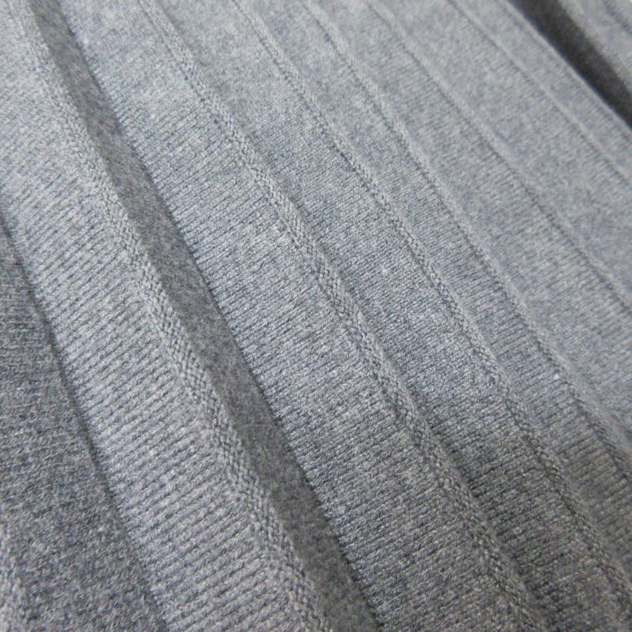 バイカラープリーツニットスカート 8