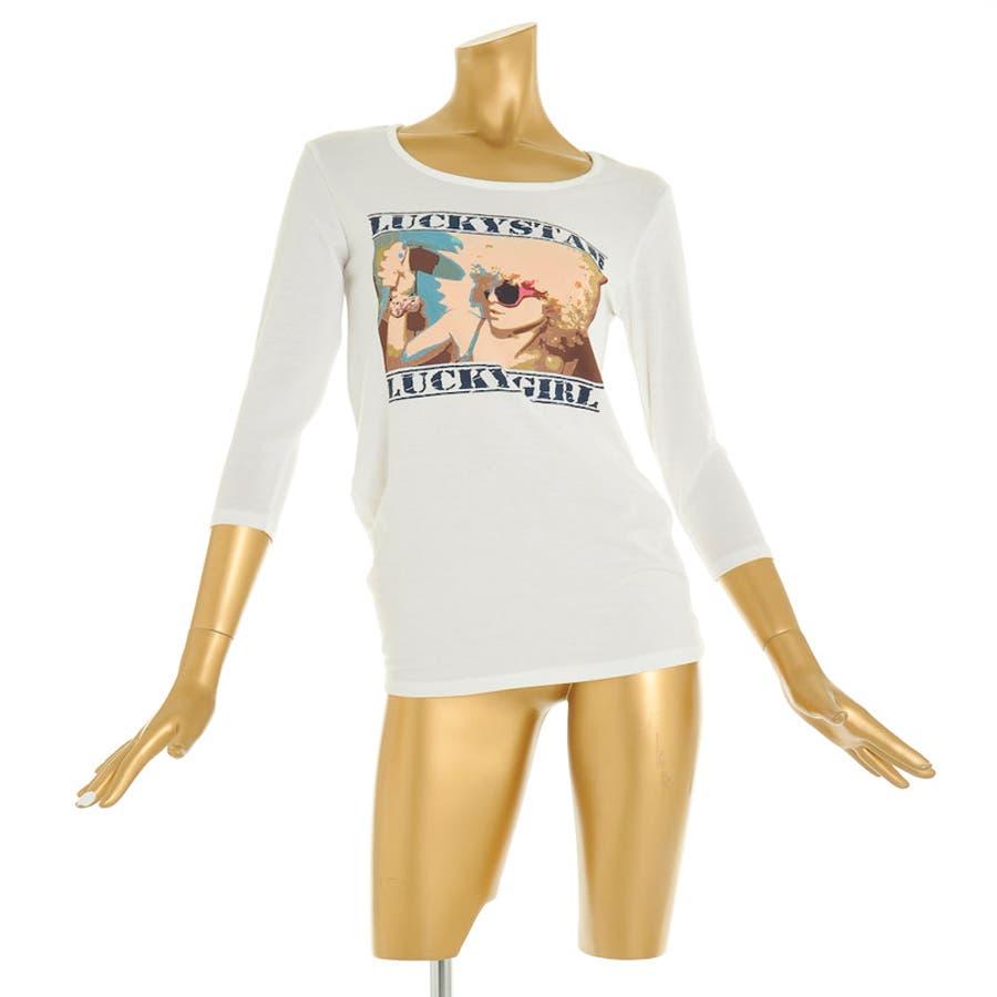 オシャレ女子買い足し 秋冬新作 プリントロングTシャツ 長袖Tシャツ トップス カジュアル ロンT シンプル 074153 至極