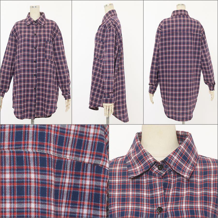 ■2019年春夏新作■ゆる スタイル チェック柄 長袖 シャツ 4