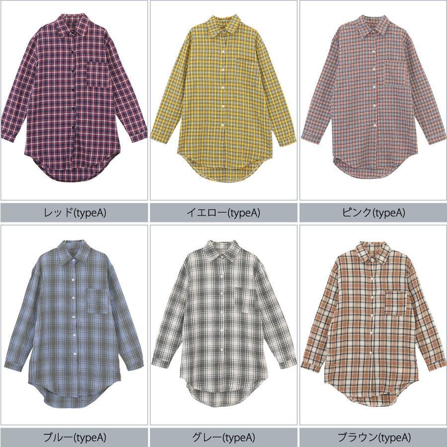 ■2019年春夏新作■ゆる スタイル チェック柄 長袖 シャツ 5