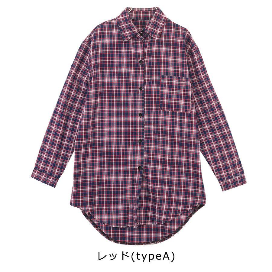 ■2019年春夏新作■ゆる スタイル チェック柄 長袖 シャツ 6
