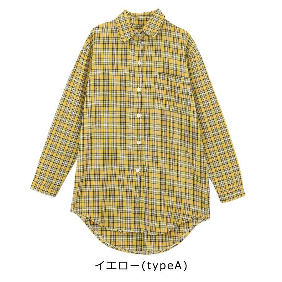 ■2019年春夏新作■ゆる スタイル チェック柄 長袖 シャツ 7