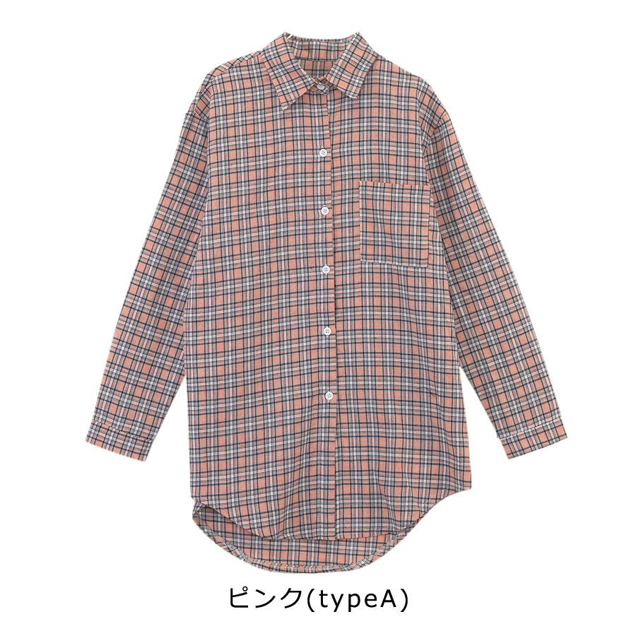 ■2019年春夏新作■ゆる スタイル チェック柄 長袖 シャツ 8