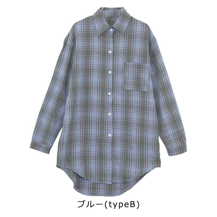 ■2019年春夏新作■ゆる スタイル チェック柄 長袖 シャツ 9