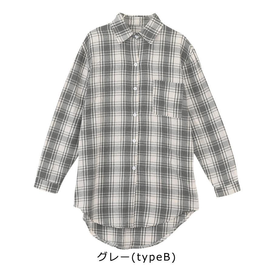 ■2019年春夏新作■ゆる スタイル チェック柄 長袖 シャツ 10