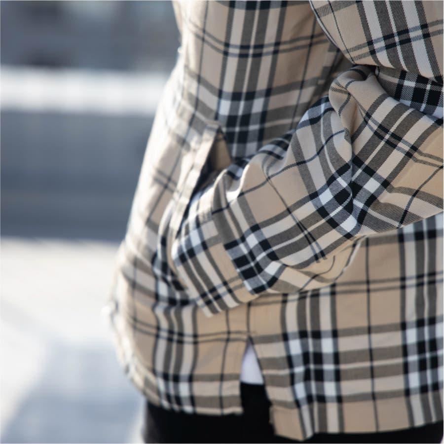 ドリズラージャケット メンズ チェック柄 ガンクラブチェック グレンチェック タータンチェック スイングトップ ジャケット ブルゾンアウター トップス 韓国系ファッション ピープス系 ストリート カジュアル レディース ユニセックス ペア お洒落 9