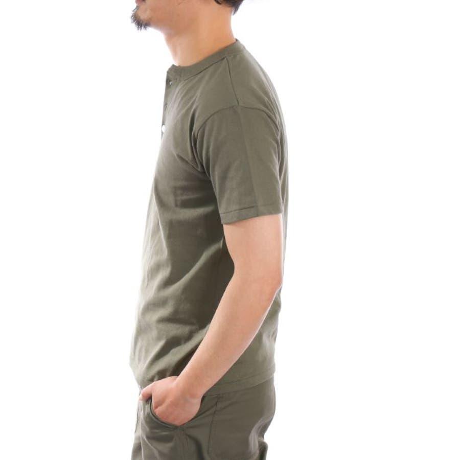 【ヘンリーネックTシャツ メンズ】 ヘンリーネックTシャツ メンズ 半袖 厚手 6.2オンス 無地 白 黒 グレー 紺 カーキ 春 夏半袖Tシャツ メンズTシャツ カットソー インナー トップス お洒落 カジュアル ユニセックス 男女兼用 レディース対応 9