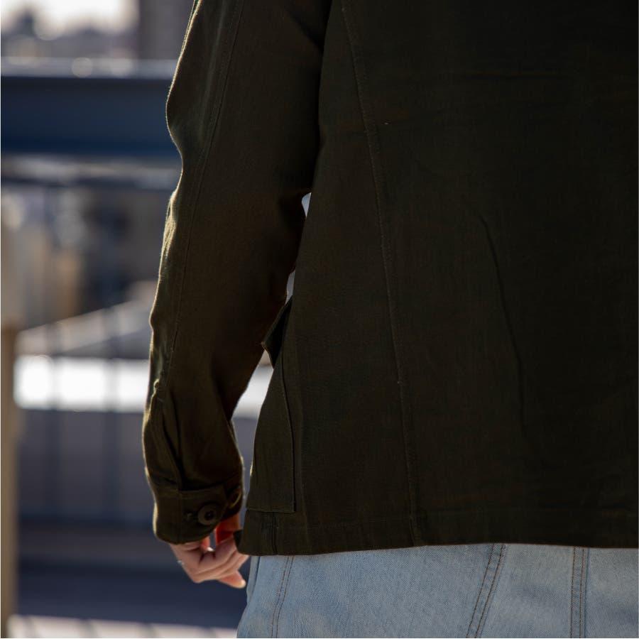 ミリタリージャケット メンズ ストレッチ スタンドカラー ハイネック ツイル スリム 細身 M-65 ストレッチジャケットフライトジャケット ライトアウター ブルゾン ミリタリー アメカジ カジュアル おしゃれ 9