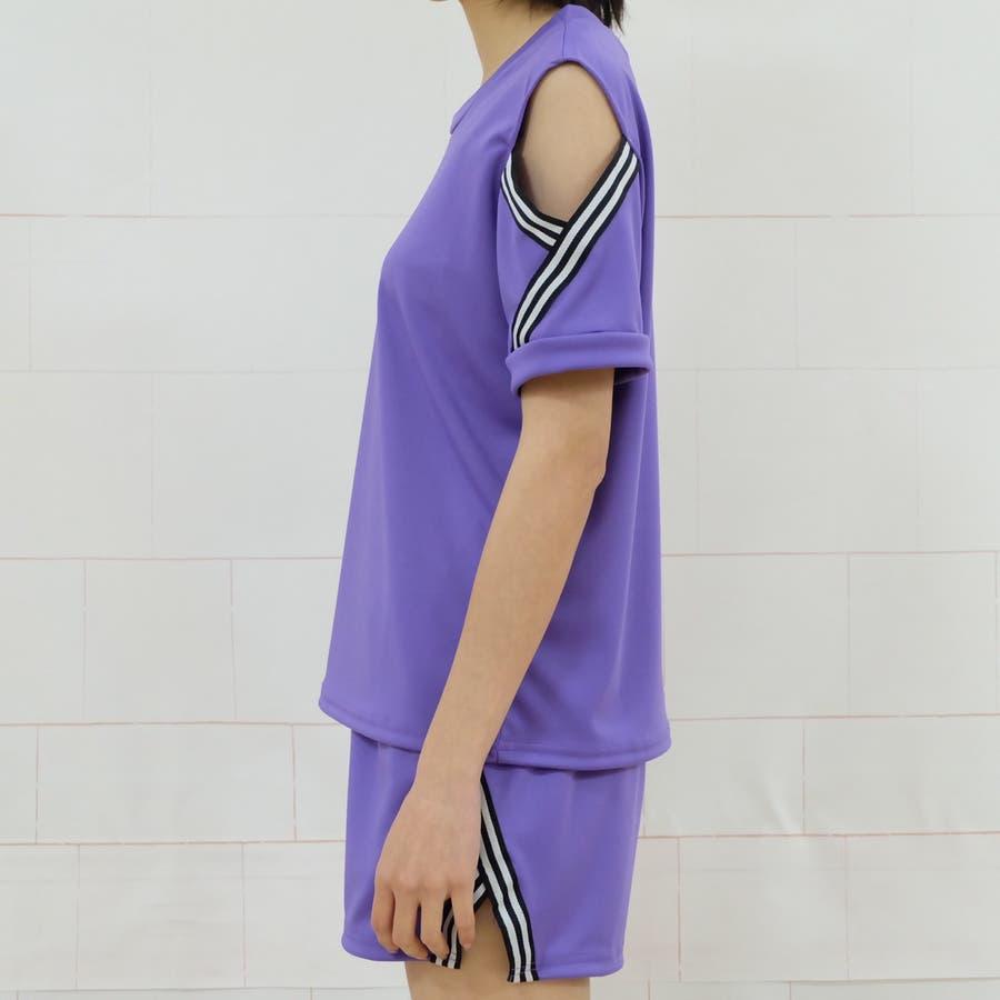 春夏新作 上下2点セットアップ  ルームウェア 運動服 部屋着 ブラック パープル レッド グリーン 韓国ファッション 7
