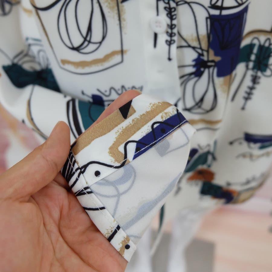 春夏新作 半袖 Tシャツ トップス カットソー 柄シャツホワイト 韓国ファッション 10