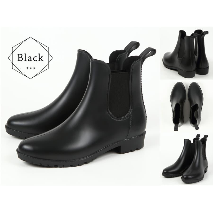 【サイドゴアレインブーツ】晴雨兼用ブーツ/レインシューズサイドゴアレインブーツ/ブーツ/ショートブーツ/長靴/雨靴/黒/ラバー/レディース ブーツ人気/長靴 ショート 9