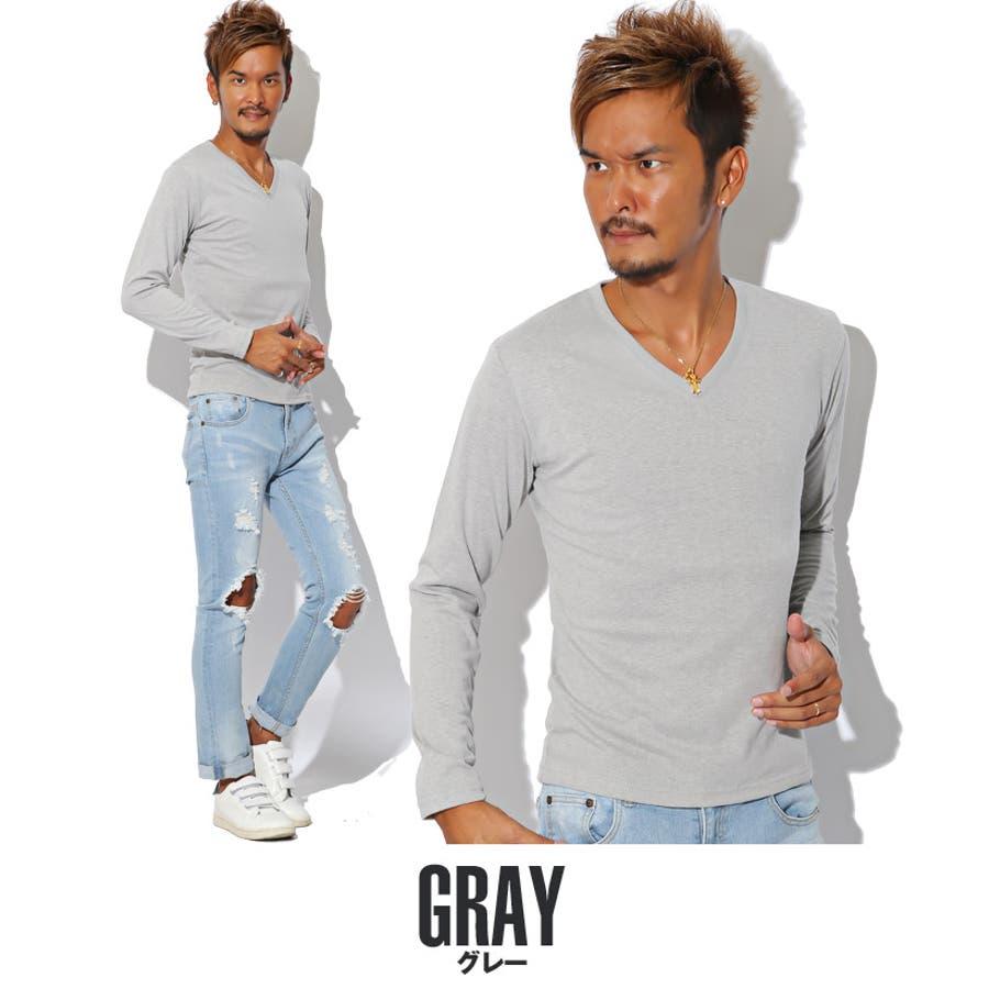 ◇Roshell(ロシェル) コットンVネック半袖Tシャツ◇Tシャツ 無地 メンズ