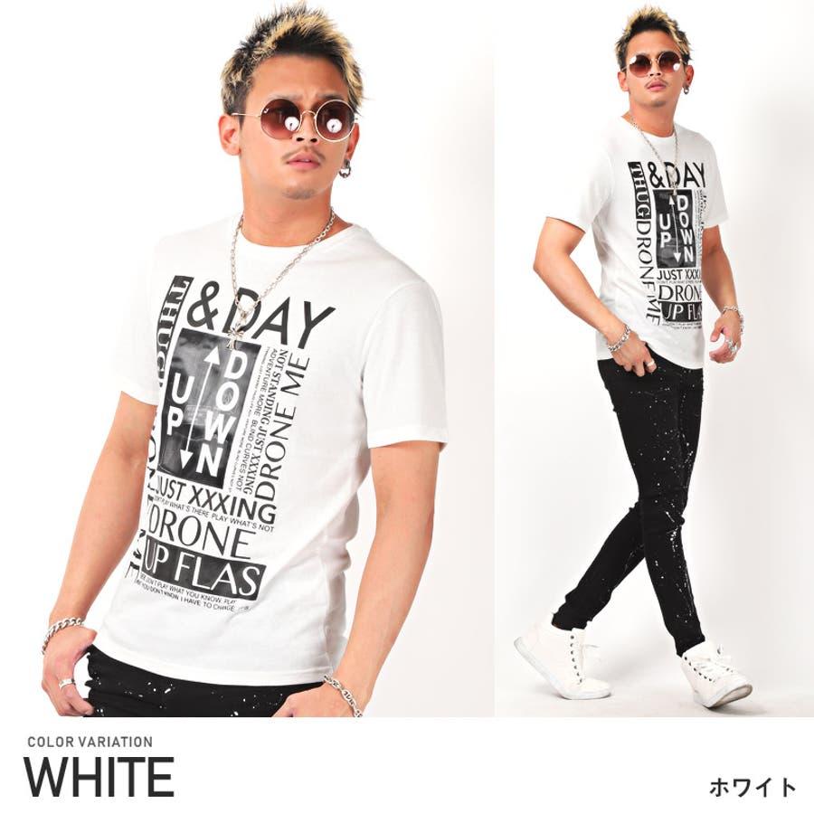 Tシャツ メンズ 半袖 フォト プリント ロゴ【風景フォトミラーシート半袖Tシャツ】メンズTシャツ 半袖Tシャツ プリントTシャツミラーシート 反射 貼り付け 風景 看板 アメカジ ホワイト ブラック タイト 細身 ビター系 BITTER pm-9728 16