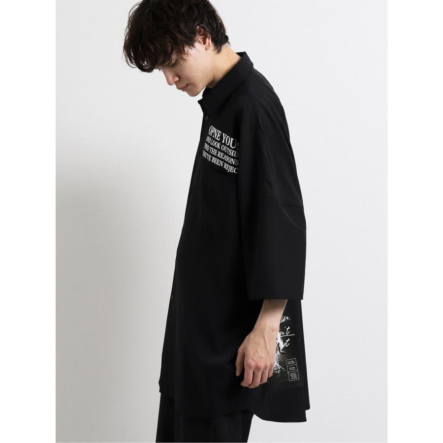 エステル転写プリント半袖BIGシャツ 4