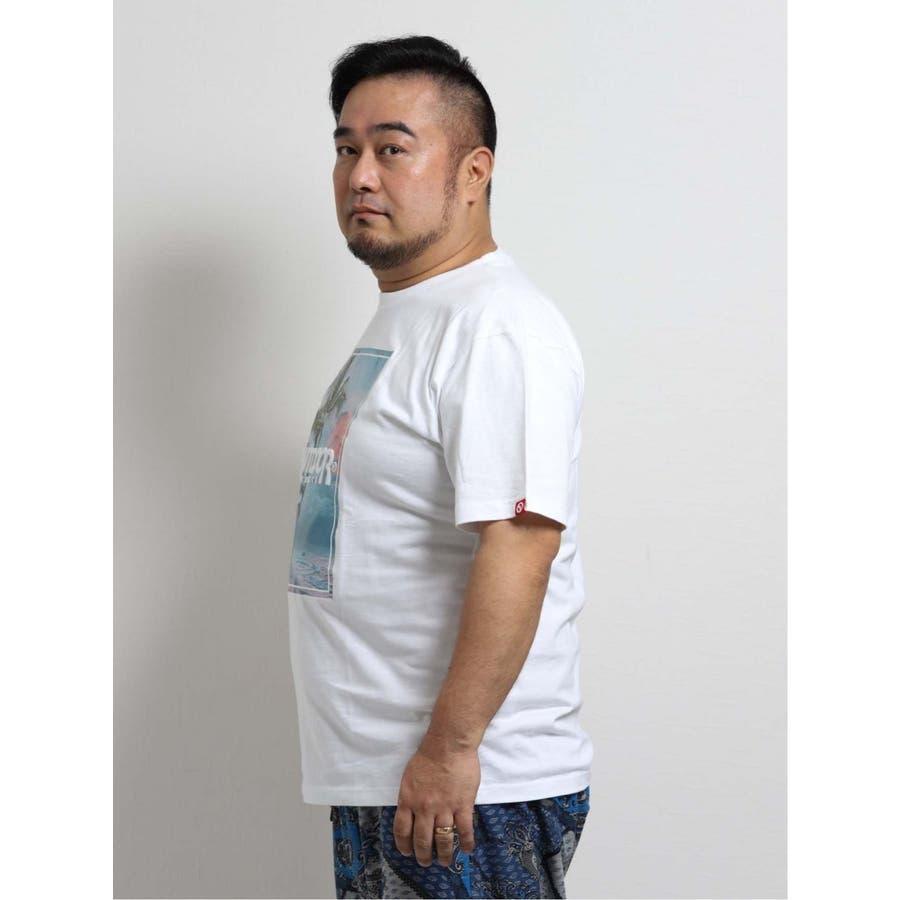 【大きいサイズ】アウトドアプロダクツ/OUTDOOR PRODUCTS 天竺アイランドエンボス クルーネック半袖Tシャツ 3
