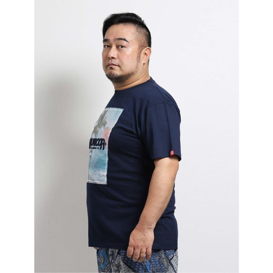 【大きいサイズ】アウトドアプロダクツ/OUTDOOR PRODUCTS 天竺アイランドエンボス クルーネック半袖Tシャツ 4