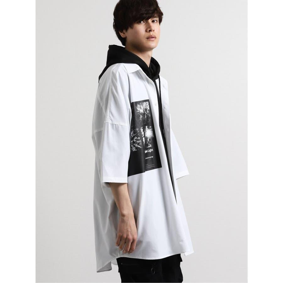 エステル転写プリント半袖BIGシャツ 7