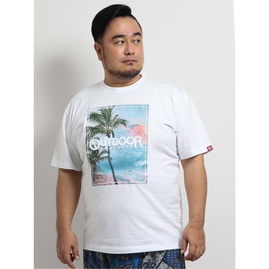 【大きいサイズ】アウトドアプロダクツ/OUTDOOR PRODUCTS 天竺アイランドエンボス クルーネック半袖Tシャツ 1