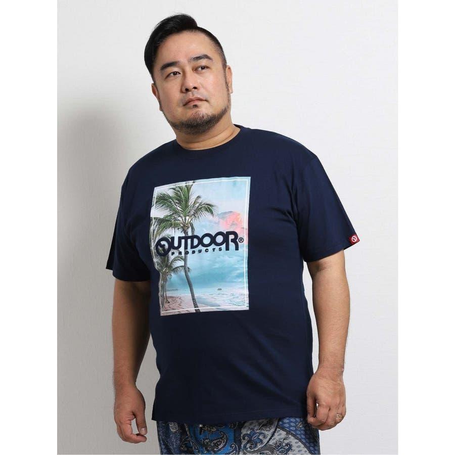 【大きいサイズ】アウトドアプロダクツ/OUTDOOR PRODUCTS 天竺アイランドエンボス クルーネック半袖Tシャツ 2