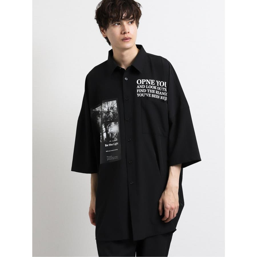 エステル転写プリント半袖BIGシャツ 2