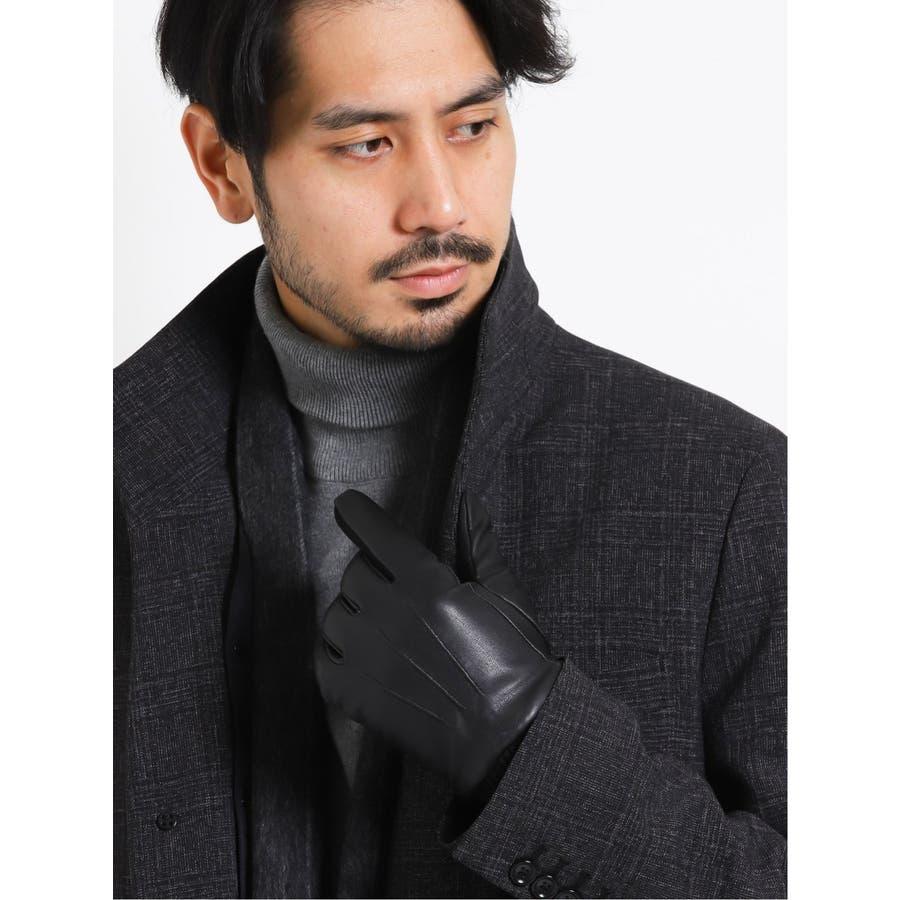 TAKA-Q:タッチパネル対応 シープレザーグローブ/手袋 1