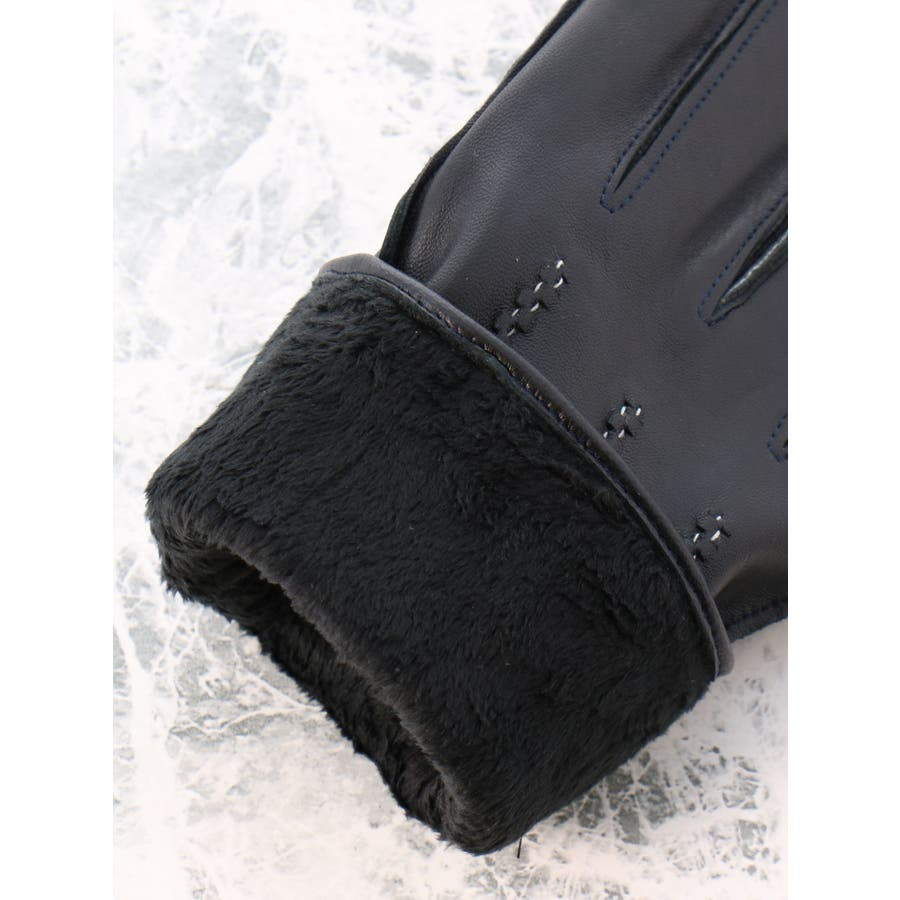 TAKA-Q/ALEXANDER JULIAN:タッチパネル対応 シープスキン グローブ/手袋 ステッチ 6