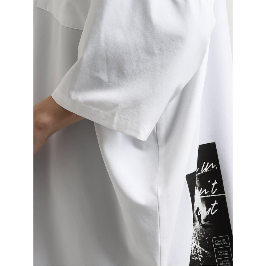 エステル転写プリント半袖BIGシャツ 8