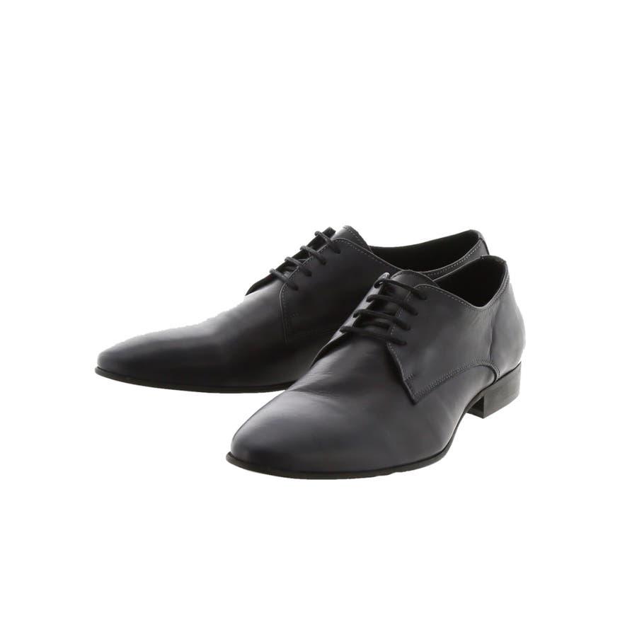 around the shoes:MADE IN PORTUGAL ウォッシュドレザー外羽根プレーントゥビジネスドレスシューズ 21