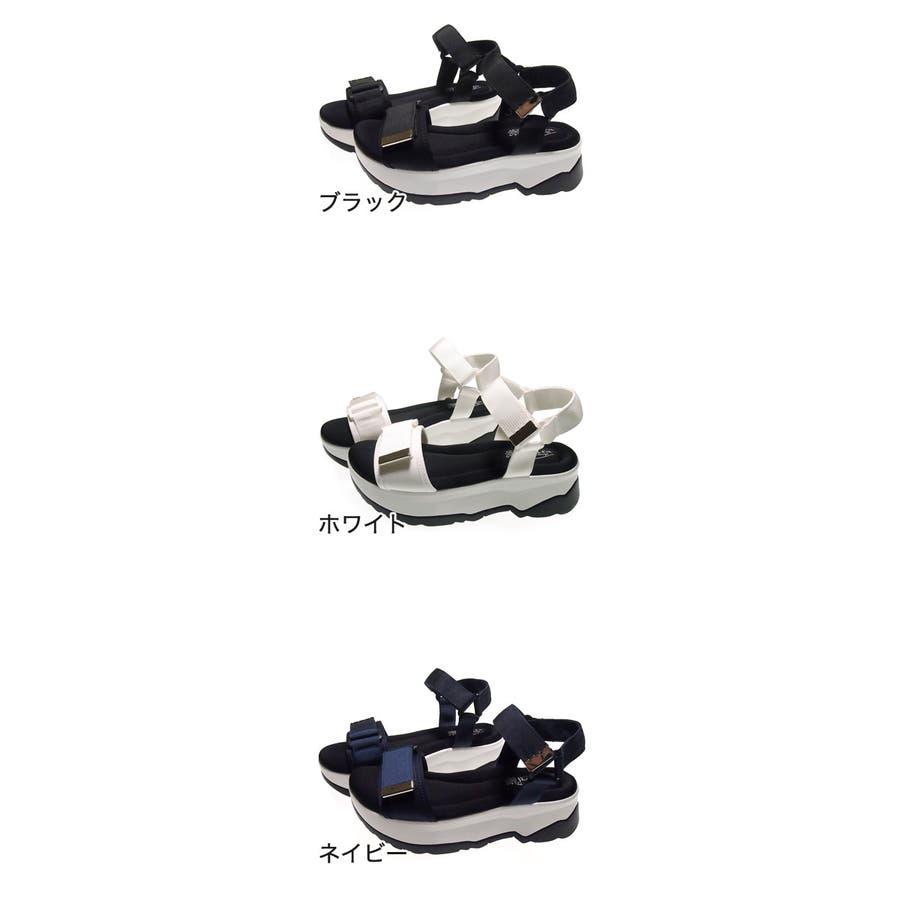 Realta ナイロンベルクロスポーツサンダル レディース ブラック/ホワイト/ネイビー S/M/L/LL 1427s20 2