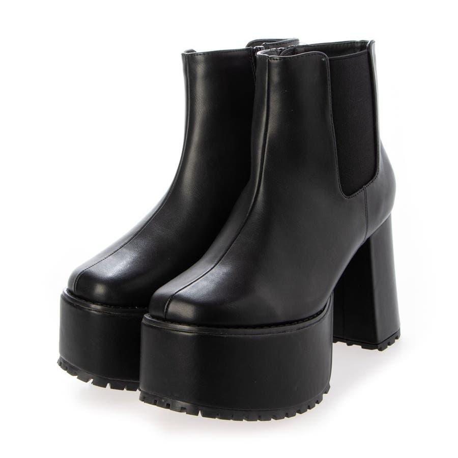 Mafmof(マフモフ) サイドゴア 厚底ブーツ 101wca 2
