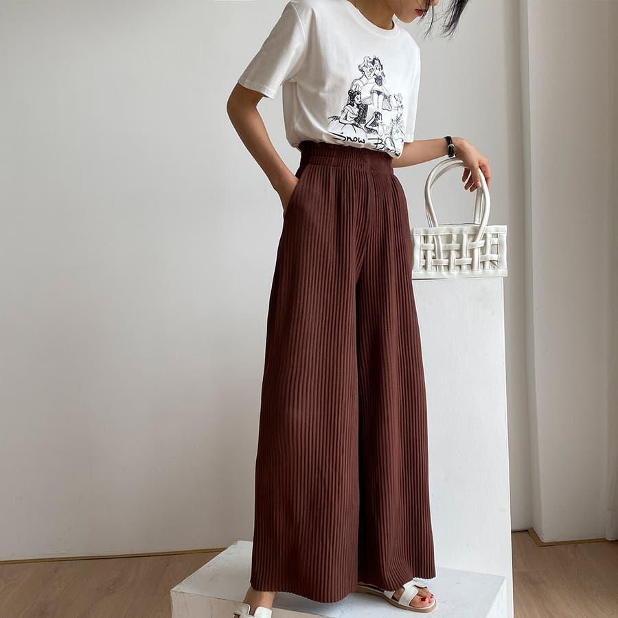 イージーパンツ レディース プリーツ パンツプリーツガウチョワイドパンツきれいめ無地ハイウエストロングカジュアルワンマイルウェアルームウェア 韓国 夏服 夏 人気 プチプラセクシー 大人 ストリート 韓国ファッション 29