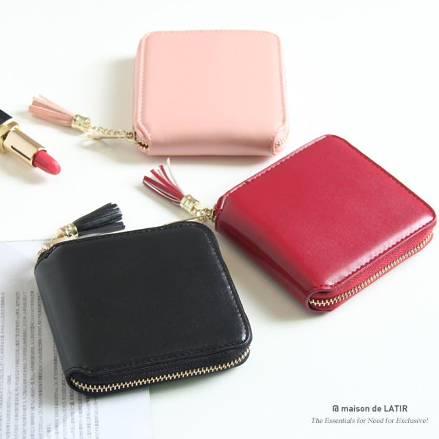 イタリア産ヌメ革コインポケット付二つ折り財布