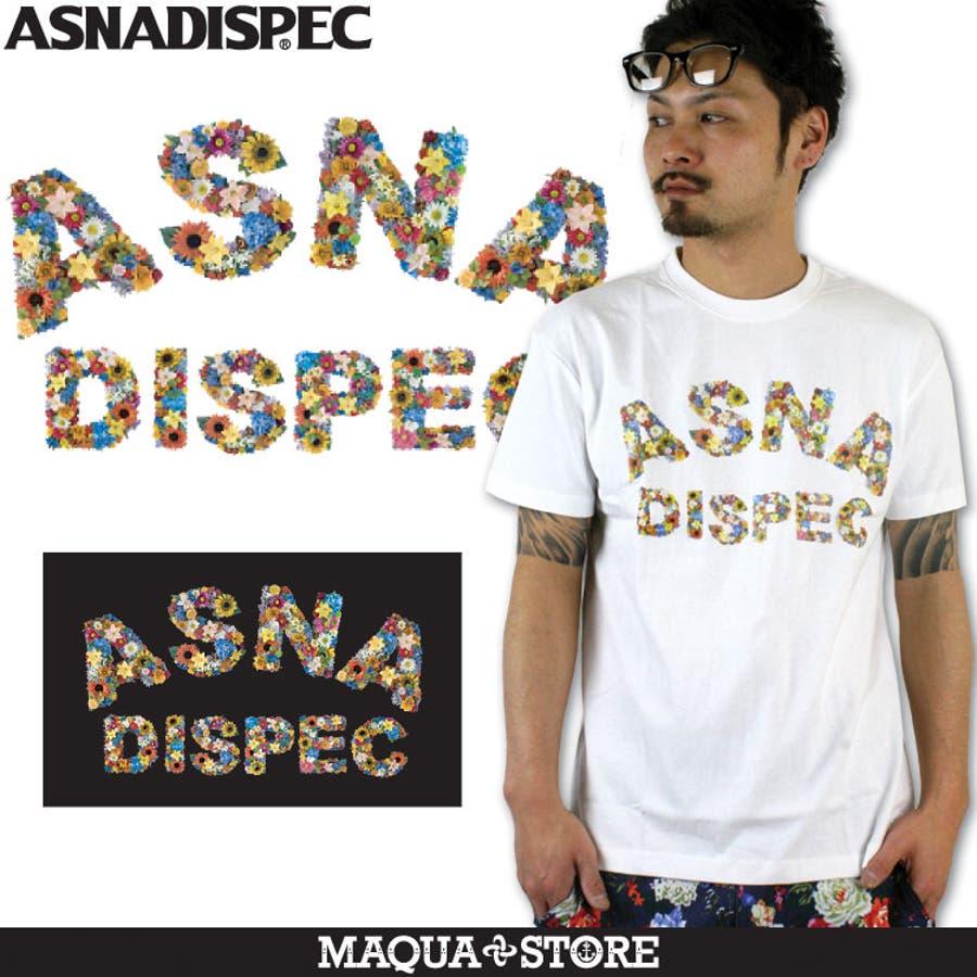 これからの時期にはイイと思う! ASNADISPEC アスナディスペック FLOWERLOGOTEE-SS レギュラー半袖Tシャツ アメカジ・きれい目・ストリート・XL・XXL 号車