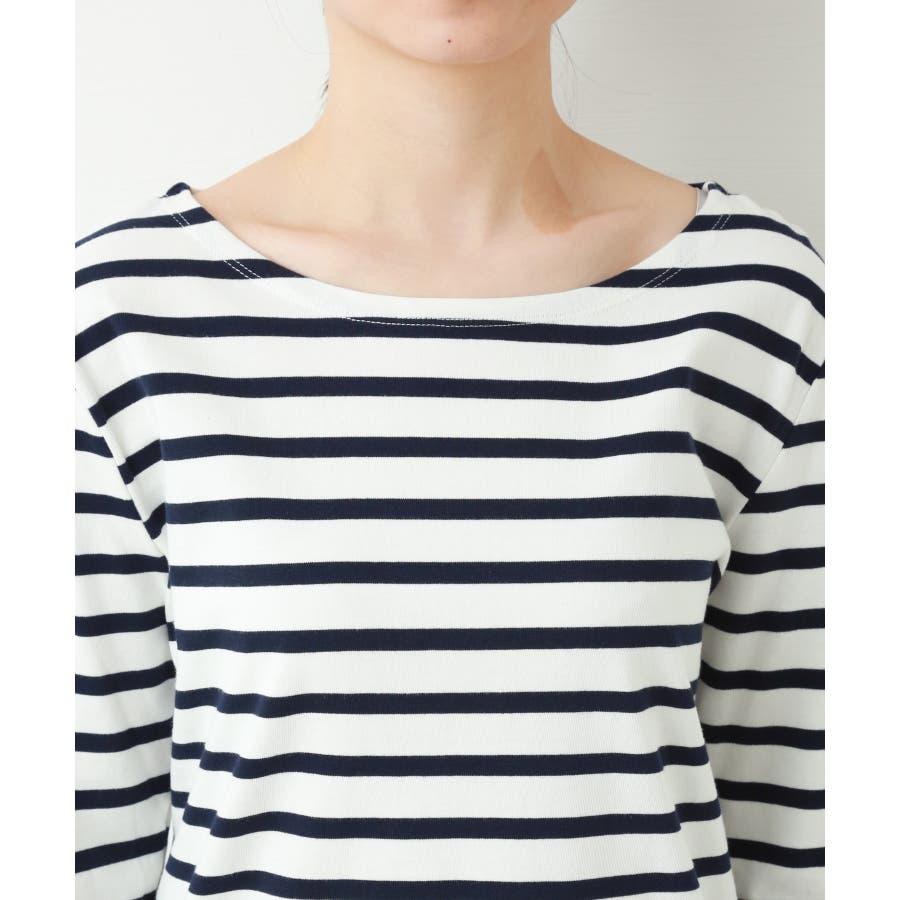 フレンチボートネックボーダー長Tシャツ 4