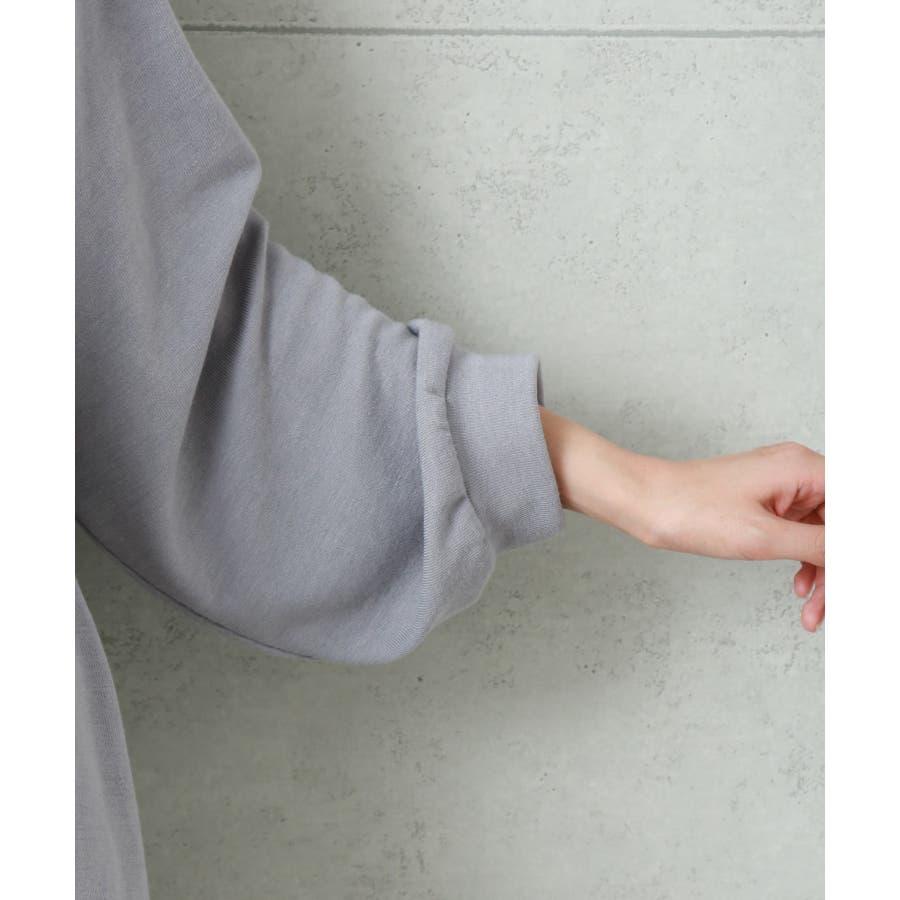 【Web限定】バックプリーツで後ろ美人 長袖のニットカットソーワンピース 5