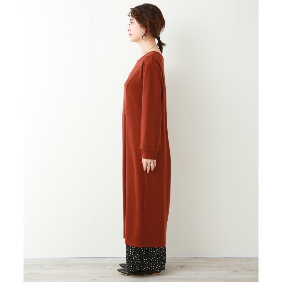 【WEB限定】重ね着を楽しむ コットン混のスリットワンピース 2