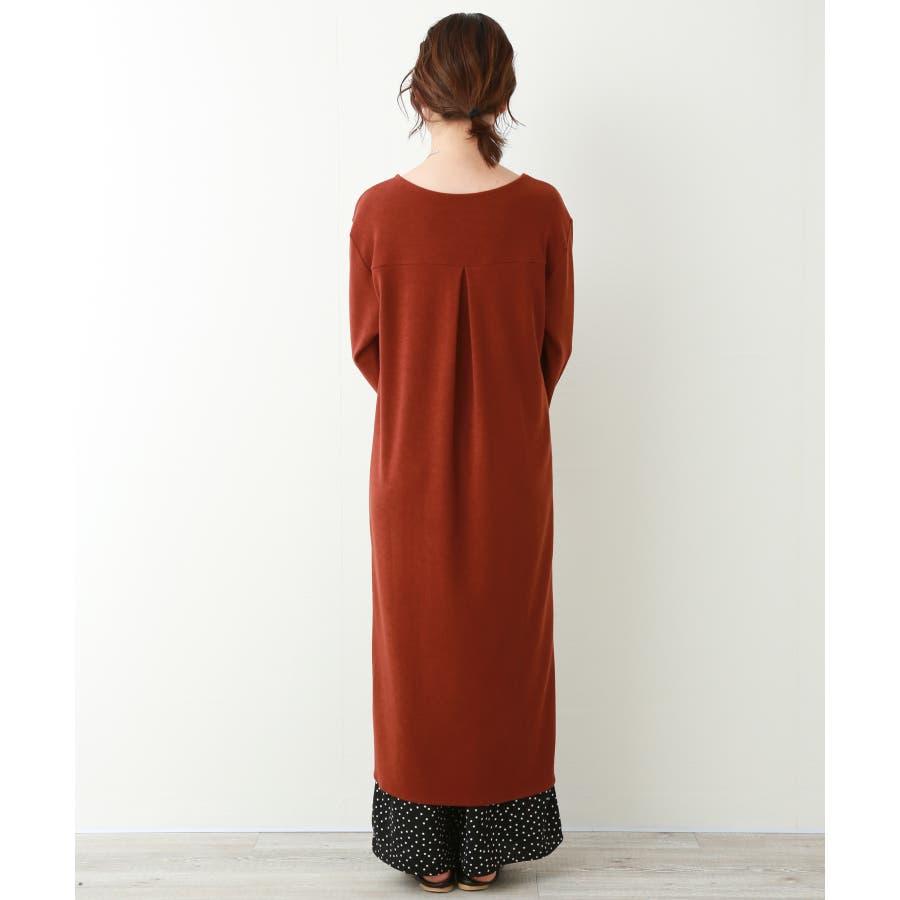 【WEB限定】重ね着を楽しむ コットン混のスリットワンピース 3