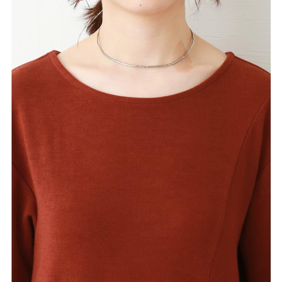 【WEB限定】重ね着を楽しむ コットン混のスリットワンピース 4