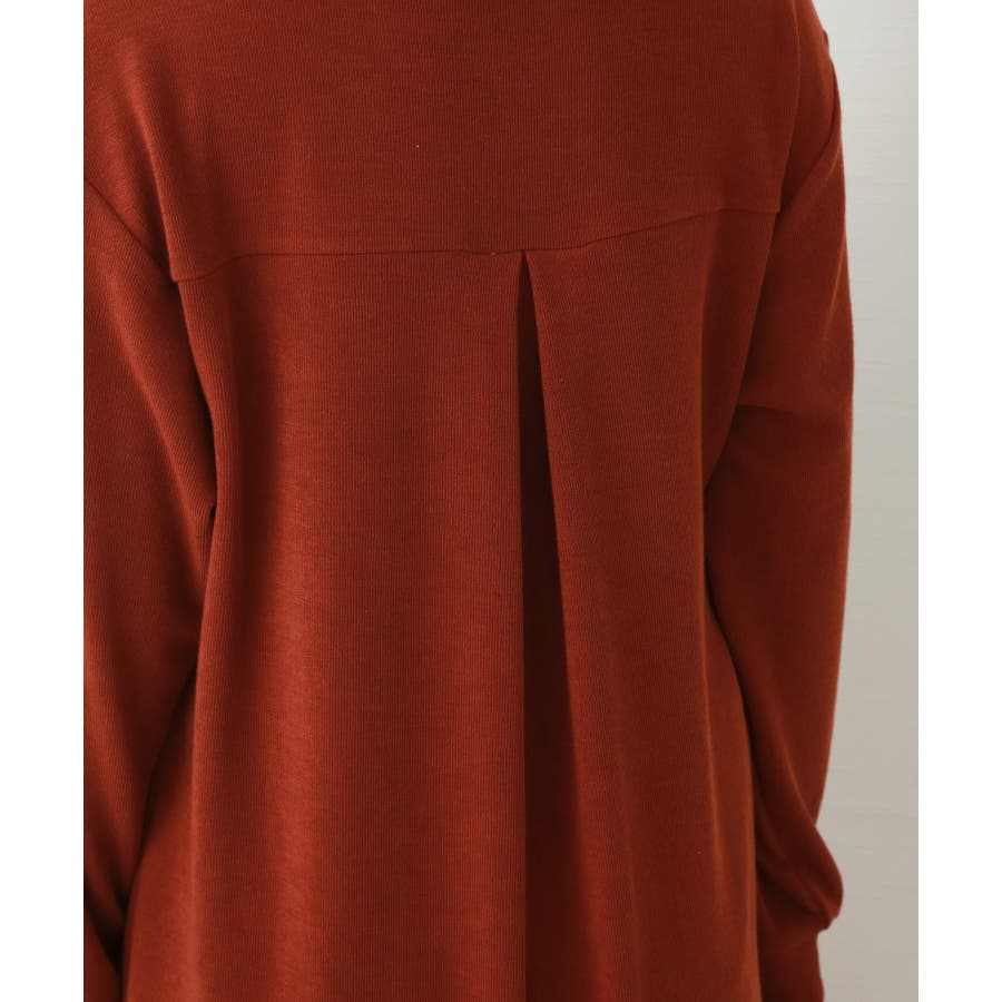 【WEB限定】重ね着を楽しむ コットン混のスリットワンピース 5