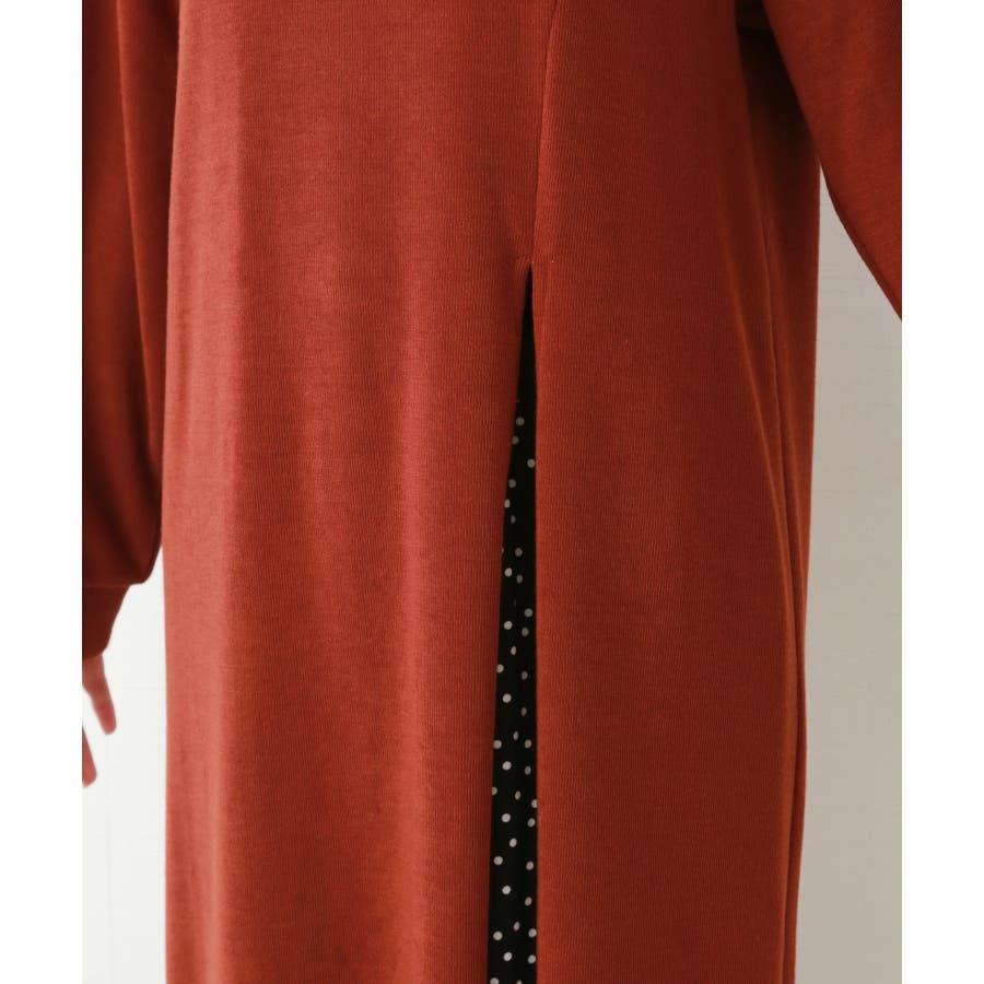 【WEB限定】重ね着を楽しむ コットン混のスリットワンピース 7